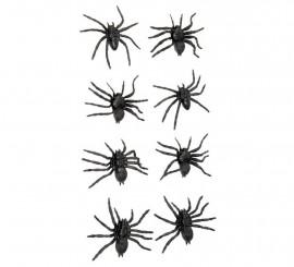Bolsa con 8 Arañas 6 cm. para decorar en Halloween
