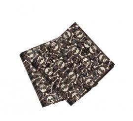 Bolsa de 20 servilletas de calaveras y huesos de 33x33 cm