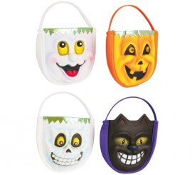 Bolsas Recoge Caramelos Caras Halloween modelos surtidos