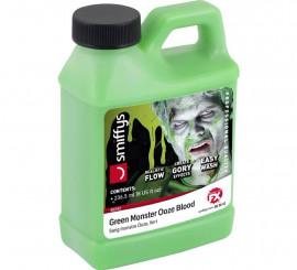 Botella de Sangre supurada verde de 236,5 ml
