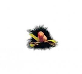 Broche con pene y pelo de Despedidas de Soltero/a
