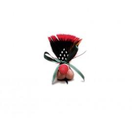 Broche plumas con pene de Despedidas de Soltero/a