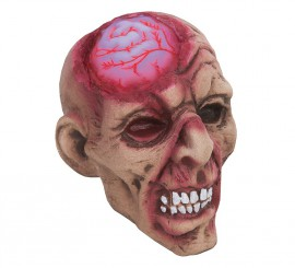 Cabeza Zombie Cerebro con Luz de 18 cm