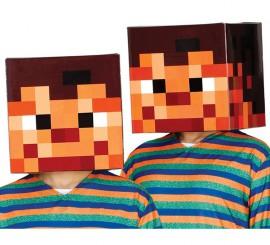Cabeza Pixelada de cartón
