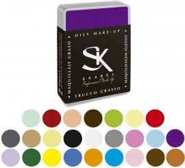 Cajita de maquillaje graso 25 gr en varios colores