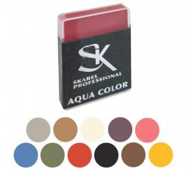 Cajita de Maquillaje Profesional al agua de 12 gr en varios colores