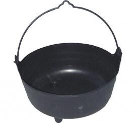 Caldero de bruja Negro Grande