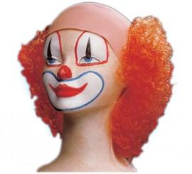 Perruque de Clown mi-chauve Orange