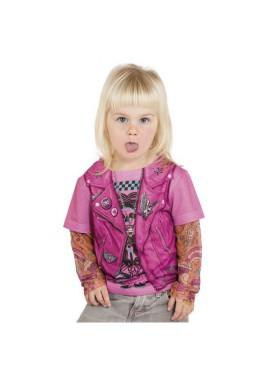 Camisa de Motera con Tatuajes para Niña