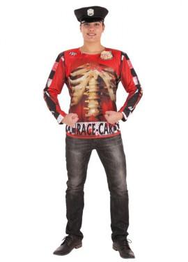 Camisa de Policia Zombie para hombre