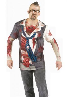 Camisa Zombie con sangre para hombre