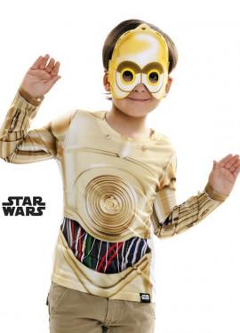 T-shirt déguisement de C-3PO pour enfants Star Wars Épisode VII