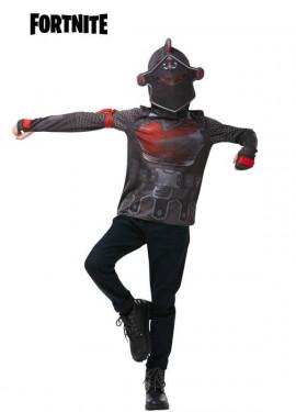 T-Shirt ou Déguisement avec capuche Black Knight Fortnite pour enfant/ados