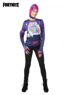 Camiseta Disfraz con Capucha Brite Bomber Fortnite para mujer