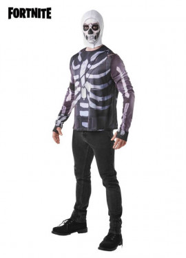 Camiseta Disfraz con Capucha Skull Trooper Fortnite para hombre