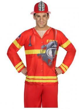 T-shirt Rigolo de Pompier pour hommes