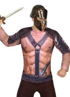 Camiseta disfraz de Gladiador para hombre