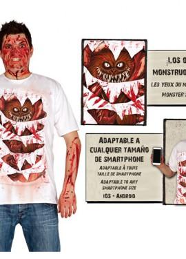 Camiseta disfraz de Monstruo con animación para hombre