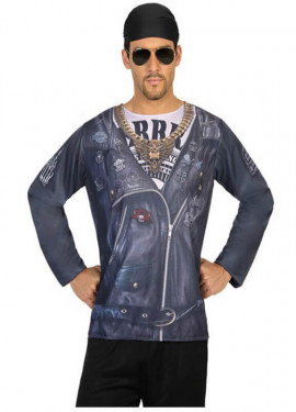 Camiseta disfraz de Motero para hombre
