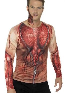 Camiseta Disfraz de Piel Desgarrada para hombre