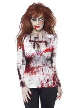 Camiseta Disfraz de Zombie Provocativa para mujer