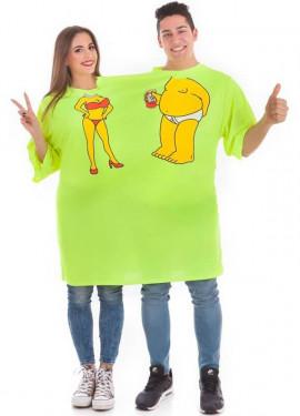 Camiseta Disfraz Doble Cerveza para adultos