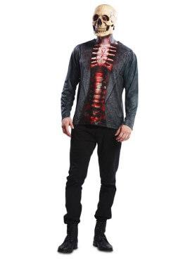 Camiseta disfraz Esqueleto para hombre para Halloween
