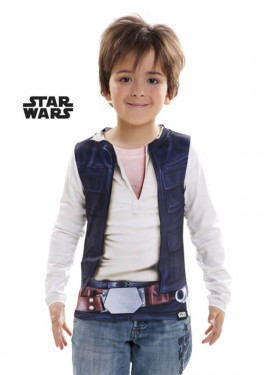 Camiseta disfraz Han Solo de Star Wars para niño