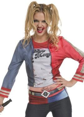 Déguisement T-Shirt Harley Quinn pour femme