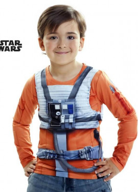 Camiseta disfraz Luke Skywalker de Star Wars para niño