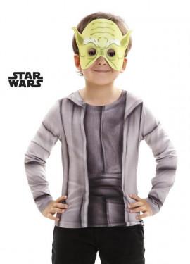 Camiseta disfraz Maestro Yoda de Star Wars para niño