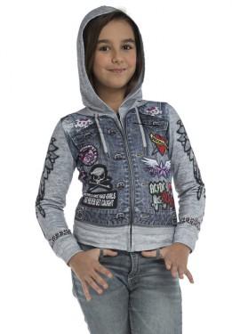 Camiseta disfraz Motera Rockabilly para niña