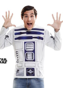 Camiseta disfraz R2-D2 de Star Wars para hombre