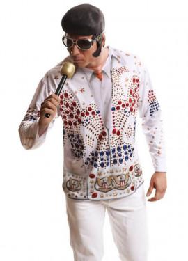 Camiseta disfraz rey del rock para hombre