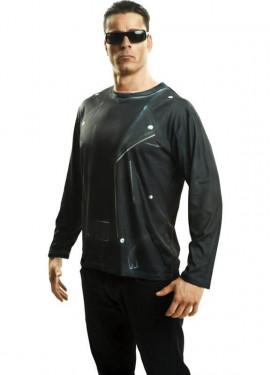 Camiseta disfraz robot terminador para Hombre
