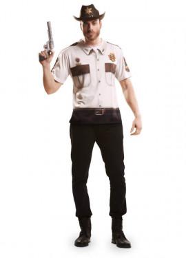 Camiseta disfraz sheriff americano para Hombre