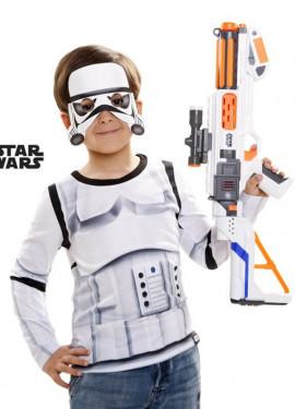 Camiseta disfraz Stormtrooper de Star Wars para niño