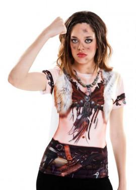 Camiseta disfraz Viking Girl para mujer