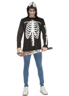 Camiseta o Disfraz de Esqueleto Casual para hombre