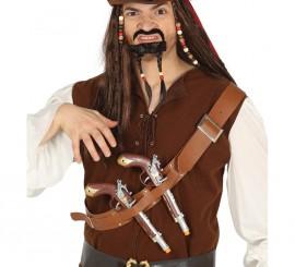 Canana de Pirata con Dos Pistolas