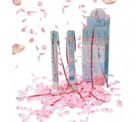 Cañón o tubo de Pétalos de rosa de 50 cm para Bodas