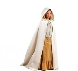 Capa Blanca Medieval para niños