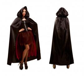 Capa con Capucha negra para mujer