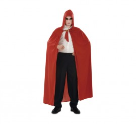 Capa con Capucha roja de punto para Adultos