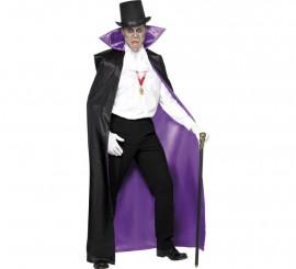 Capa de Conde Drácula reversible para hombre