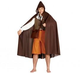 Capa marrón con capucha para adultos