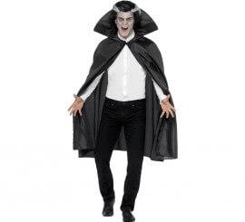 Capa de Vampiro Negra para adultos 114 cm