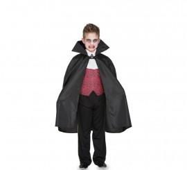 Capa de Vampiro negra para niño