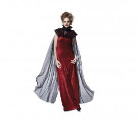 Capa Gótica negra con cuello para mujer de Halloween