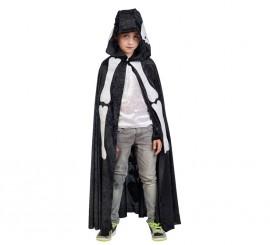 Capa negra de Esqueleto con capucha